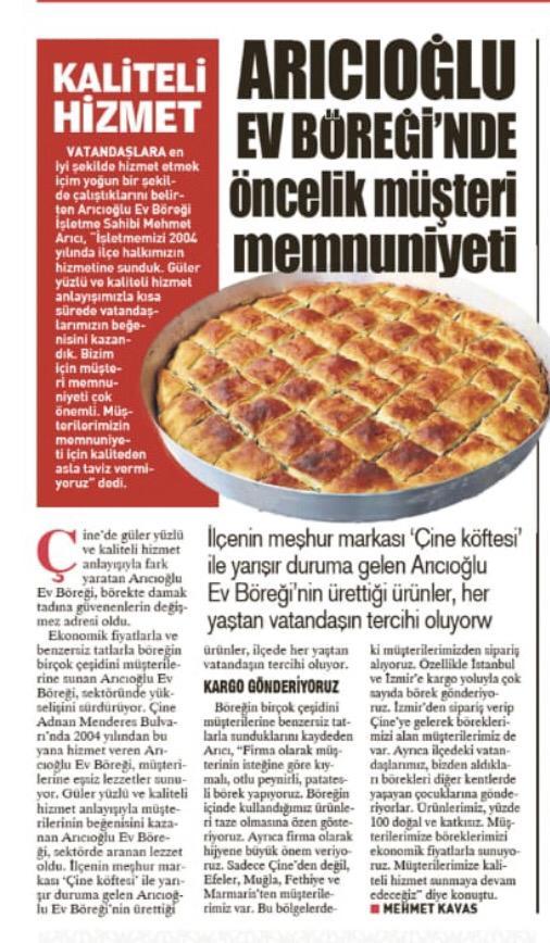 Arıcıoğlu Börek